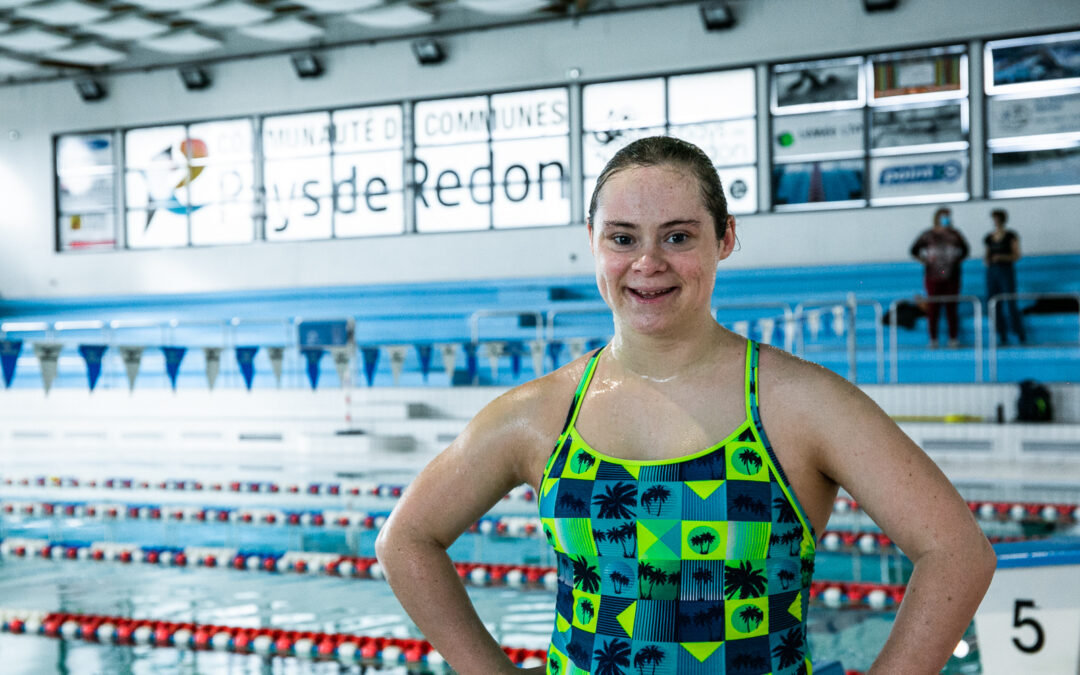 Cléo Renou, championne de natation